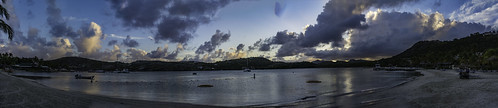 antigua caribbean westindies stjamessclub mamorabay sunset landscape seaside sea sky clouds