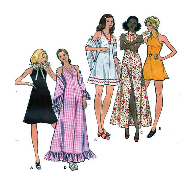 Butterick 6717 maxi dress pattern