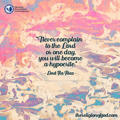 Quote of the Day: Never Complain to the Lord...