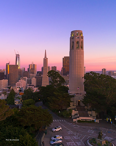 coit tower coittower san francisco sanfrancisco sfist luckysnapshot sunset colors