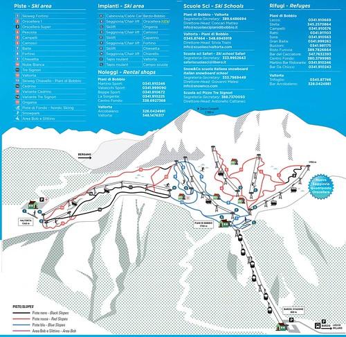 Piani di Bobbio - mapa sjezdovek