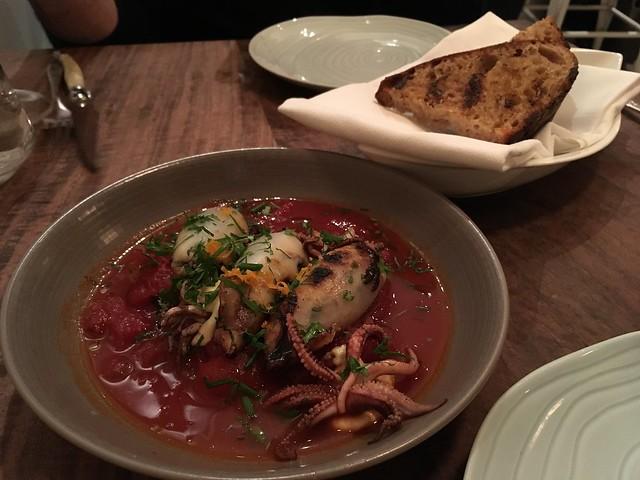 Grilled Monterrey squid - Petit Crenn