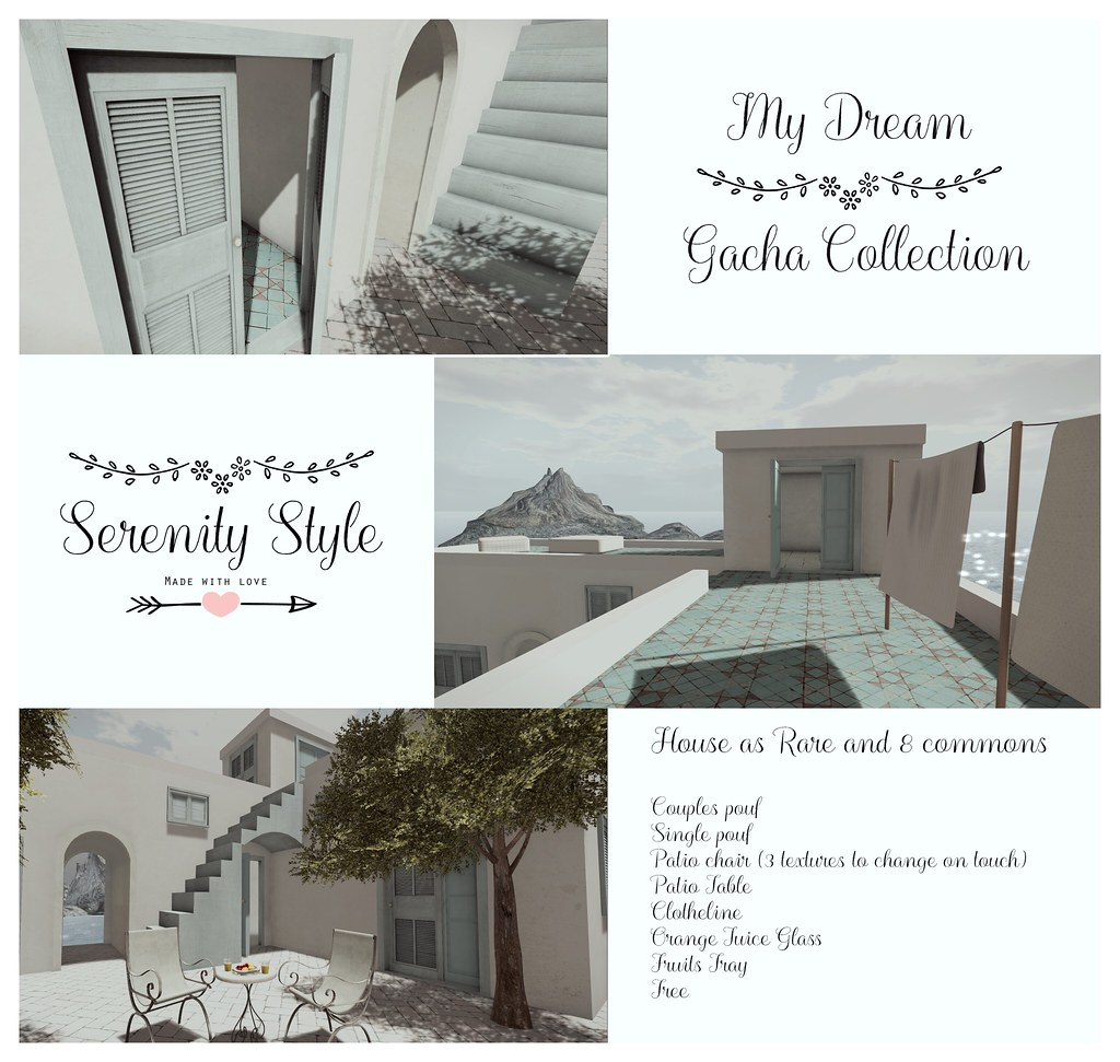 Serenity Style-My Dream Gacha Advert - SecondLifeHub.com
