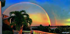Massive Stunning Dual Rainbows Tampa Bay Florida - IMRAN™