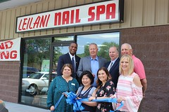 Leilani Nail Spa, a beauty spa offering a range of nail and massage treatments, marked its grand opening June 15, 2017 at 1177 New Haven Road in Naugatuck. Participating in the ribbon-cutting ceremony were, from left front: Marianne Como, Ion Bank Branch Manager; Hwacha (Lisa) Yie, Owner of Leilani Nail Spa; Courtney Ligi, Director of the Naugatuck Chamber of Commerce; and Laurie Taf-Jackson, Naugatuck Burgess; from left rear: State Senator George Logan (R-17); Mayor of Naugatuck N. Warren 'Pete' Hess; State Representative David Labriola (R-131); and Ron Pugliese, CEO of the Naugatuck Economic Development Corp. and chairman of the Naugatuck Chamber. For information on Leilani Nail Spa, call them at (203) 632-8324.