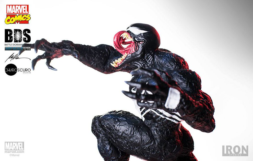 漆黑的暴亂化身!!Iron Studios Battle Diorama 系列【猛毒】Venom BDS Art Scale 1/10 比例決鬥場景作品