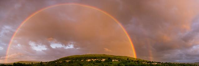 Double rainbow over Bathampton