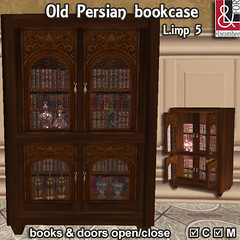 Old Persian bookcase