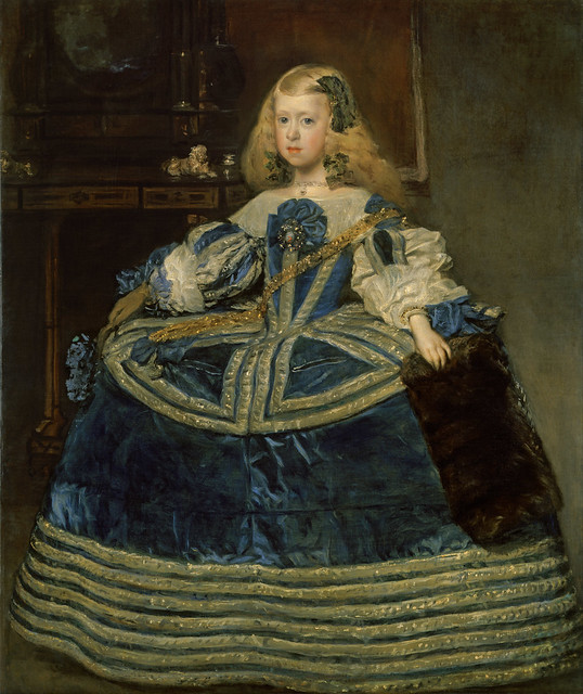 Infanta Margarita Teresa in a Blue Dress by  Diego Rodriguez de Silva y Velázquez, 1659