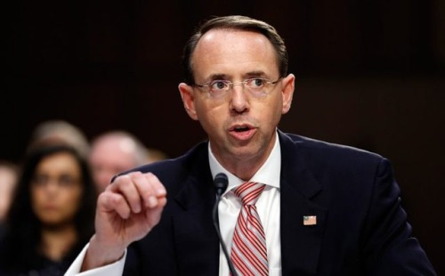 "Deputy Attorney General Rod Rosenstein: ""From a legal and..."