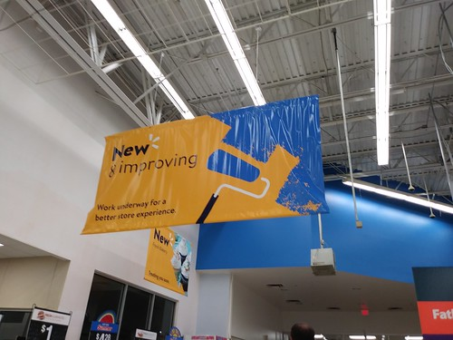 walmart supercenter murdock portcharlotte fl florida remodel sign