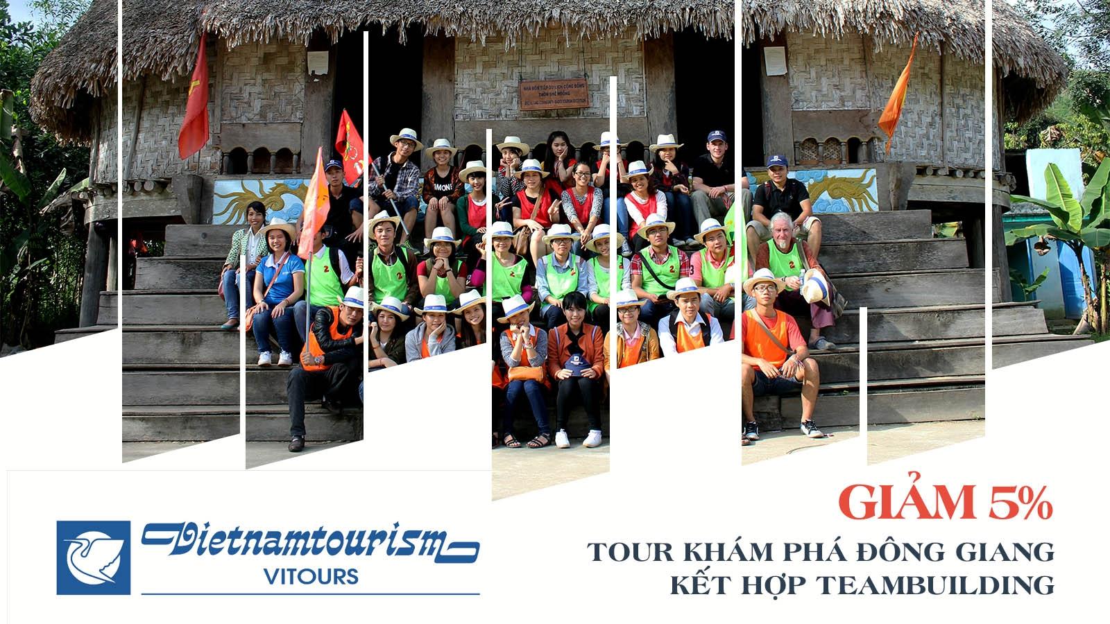 Vitours | Giảm 5% Tour du lịch khám phá Đông Giang kết hợp team building 2