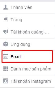 Liên kết pixel hoặc ứng dụng của bạn