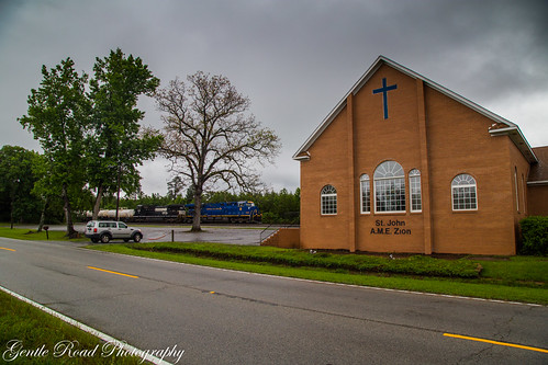 church 8103 norfolk western heritage southern adger winnsboro south carolina train rain storm