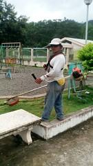Se realizó mantenimiento de parques en dos parroquias de Chone