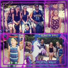 My little human's being goofballs having a blast at @sixflagsmagicmountain #familyfirst #mylittlehumans #visitingfromcollege #amusementparkgoals #sublime #happymom #adventure2017 #letsride #superheros #siblinglove #collectmemories #webelieve #thrilljunkie