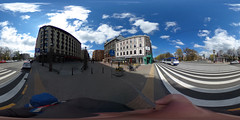 Riga tram in city center
