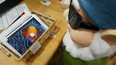 Postcards and a gnome. Albany NY