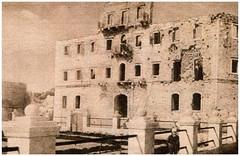 1920 CIRCA, DURAZZO, IL PALAZZO DEL RE WIED BOMBARDATO DALLE FORZE ALEATE ALLA FINE DELLA PRIMA GUERRA MONDIALE. FOTO E. J. DILLON.