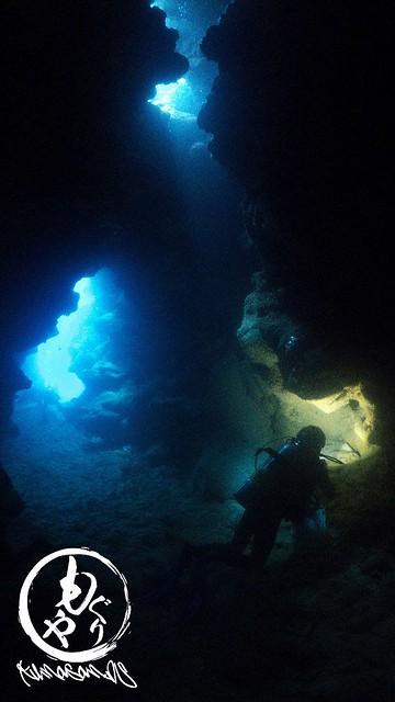 光がすんごいキレイだった洞窟ポイント♪