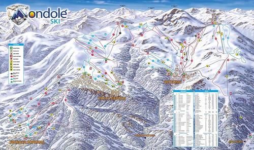 Mondole ski - mapa sjezdovek