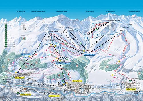 Scuol - mapa sjezdovek