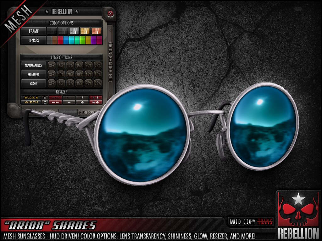 "= REBELLION = ""ORION"" SHADES - SecondLifeHub.com"