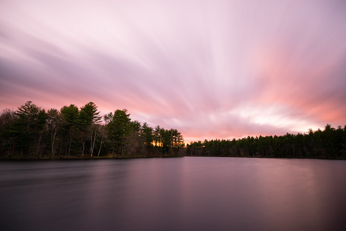 clarkpond auburn newhampshire usa unitedstates pond lake water clouds sunset longexposure outdoors nature trees bwfilters nikond610 nikon tscolors