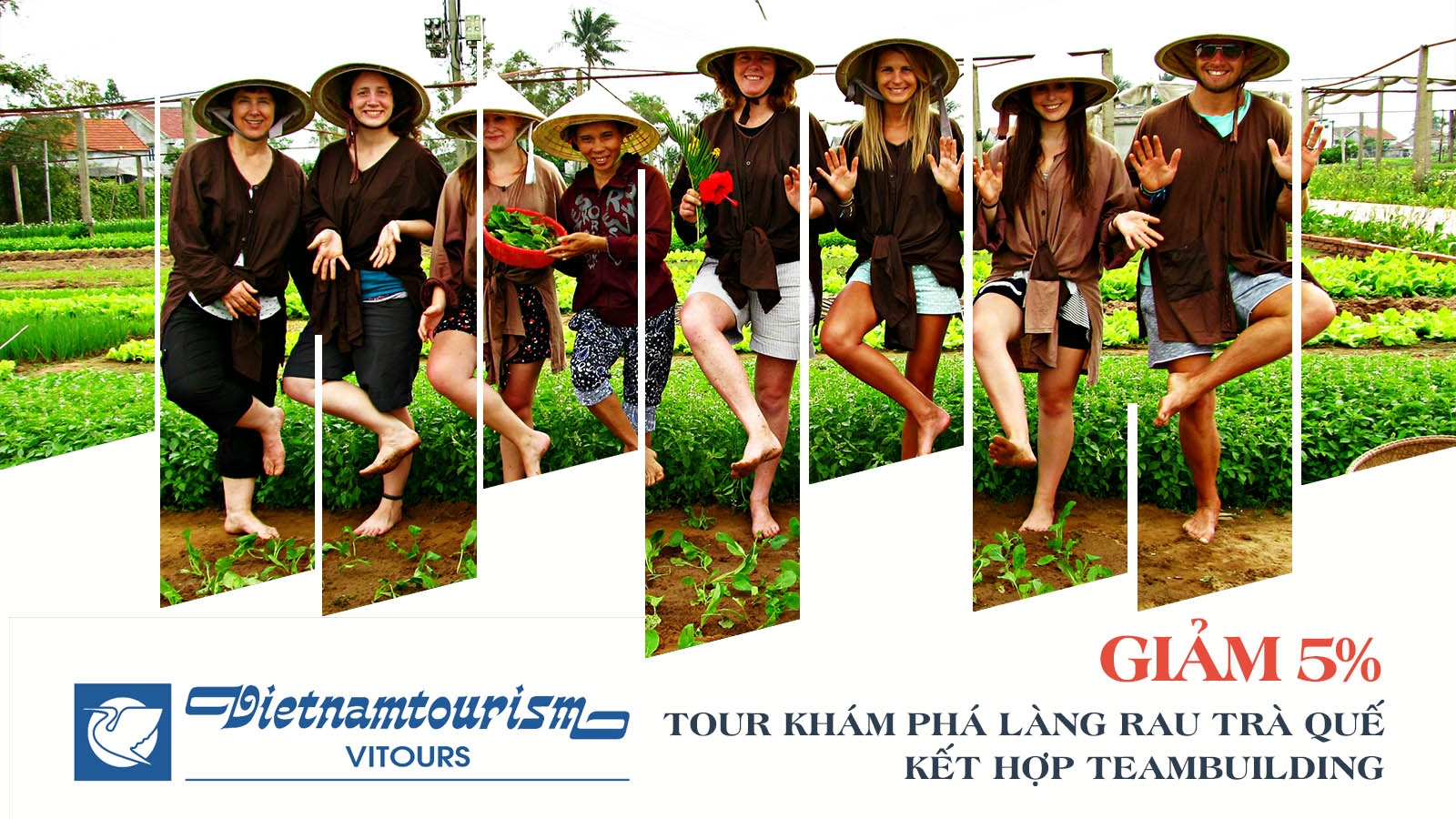 Vitours   Giảm 5% Tour khám phá làng rau Trà Quế kết hợp team building 1