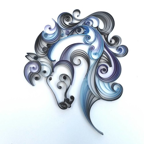 Quilled Horse by Meloney Celliers