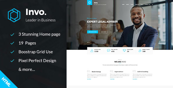 Invo v1.0 – Business training Consulting HTML Template