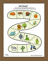 Living and Non-living things preschool science sheets