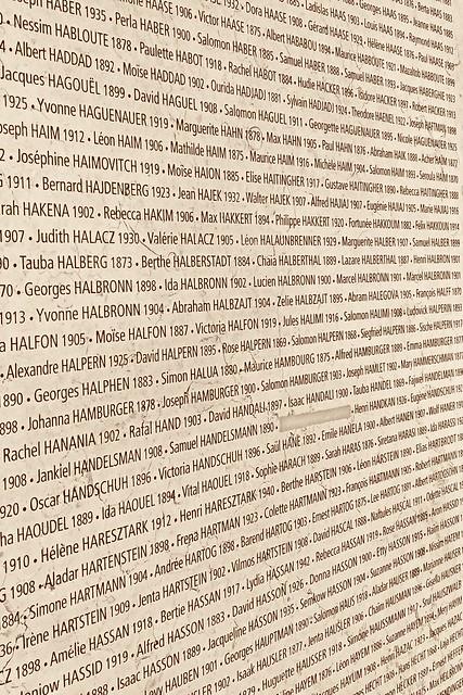 Mémorial de la Shoah : Wall of Names