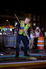 Members of New York City?s Department of Transportation paint the crosswalk outside of Stonewall Inn with the colors of the pride flag in honor of pride week on June 25, 2017. Benjamin Kanter/Mayoral Photo Office.
