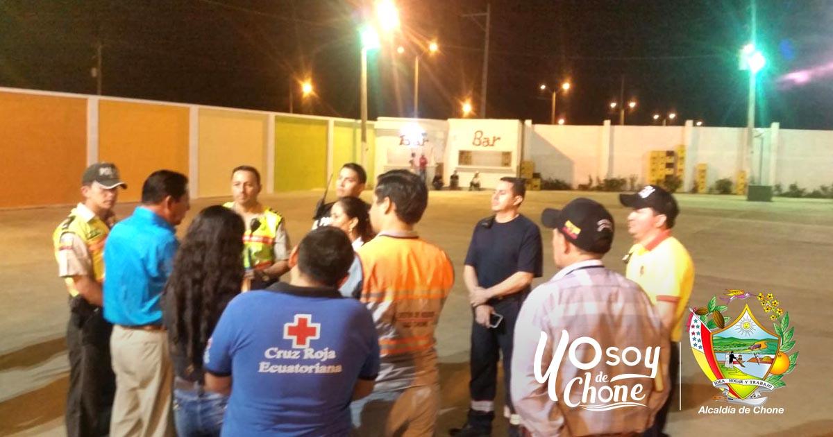 Mesa de Seguridad municipal de Chone realizó control preventivo de eventos