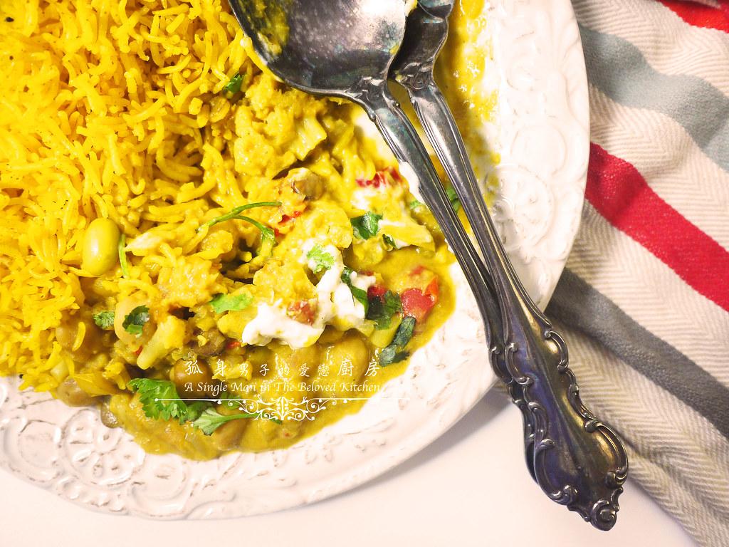 孤身廚房-Staub媽咪鍋煮超滿的印度蔬食花椰菜咖哩58