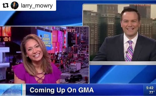 Love seeing these Valpo meteorology alumni stay connected - one with the top-rated network in Chicago, one with Good Morning America. Congrats on your successes and #GoValpo! #Repost @larry_mowry ・・・ Great to chat with @ginger_zee as she gets ready for @g