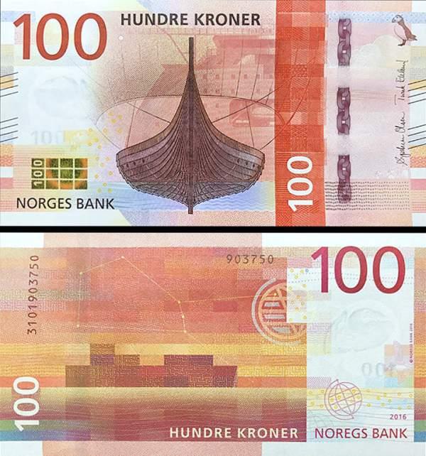 100 korún Nórsko 2016 (2017), P53