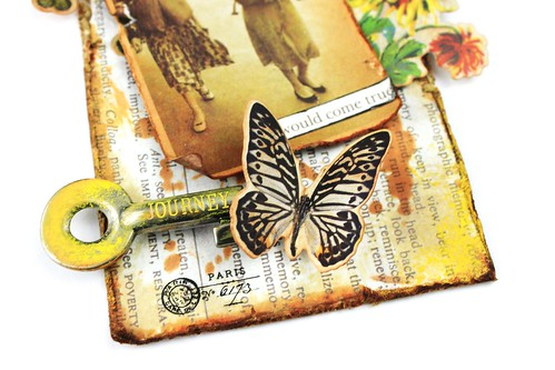 Meihsia Liu Simply Paper Crafts Miexed Media tag Distress Journey Simon Says Stamp Tim Holtz 4