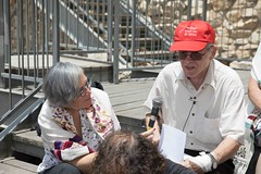 Lesley Sachs with Moshe Milo