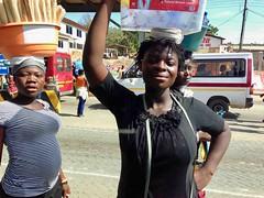 Ghanian women roadside hawking in Accra, Ghana, #JujuFilms