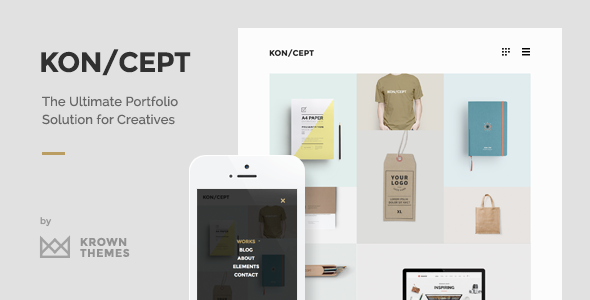 KON/CEPT v1.8.1 – A Portfolio Theme for Creative People