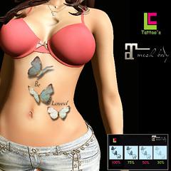 L.c Tattoo Beloved butterflys