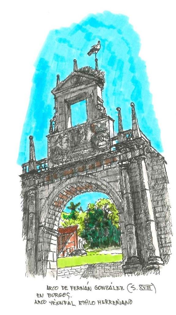 Burgos. Arco de Fernán González