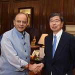 President Nakao meets India Finance Minister in Delhi