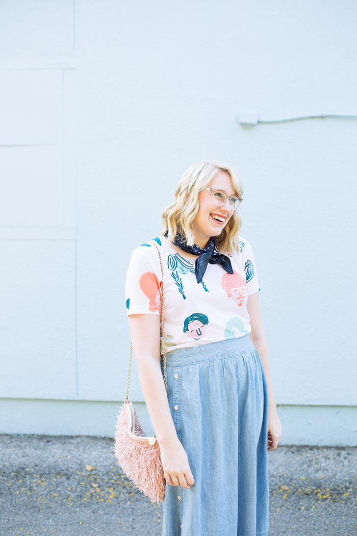 austin style blogger writes like a girl chambray madewell midi skirt6