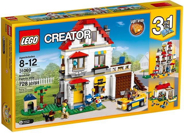 LEGO 創意系列 31067、31068、31069 下半年迷你街景玩法大升級!!靠著「模組化」把三間房屋拼成大豪宅吧!!