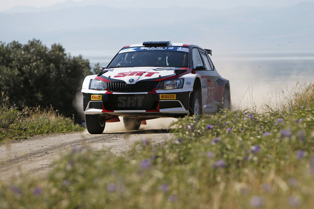 04 GRYAZIN Nikolay (lva) and FEDOROV Yaroslav (rus) actionduring the European Rally Championship 2017 - Acropolis Rally Of Grece - From June 2 to 4 - Photo Thomas Fenêtre / DPPI