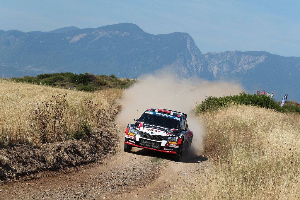 06 GRZYB Grzegorz (pol) and WROBEL Jakub (pol) action during the European Rally Championship 2017 - Acropolis Rally Of Grece - From June 2 to 4 - Photo Gregory Lenormand / DPPI