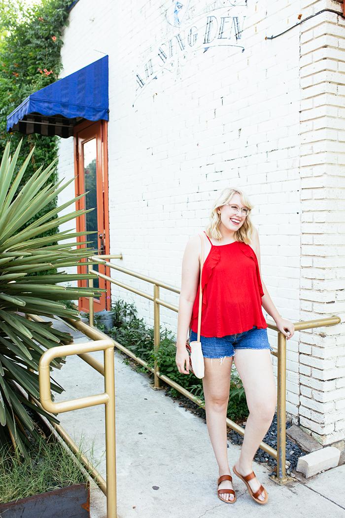 austin fashion blogger writes like a girl red tank top7